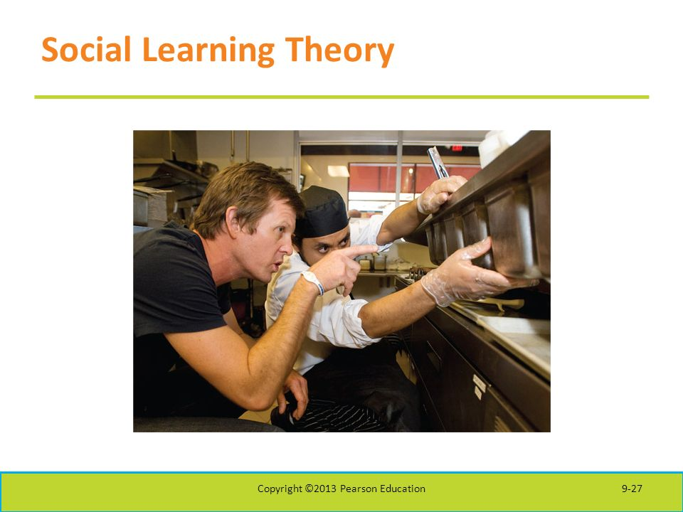 Social Learning Theory Copyright ©2013 Pearson Education9-27