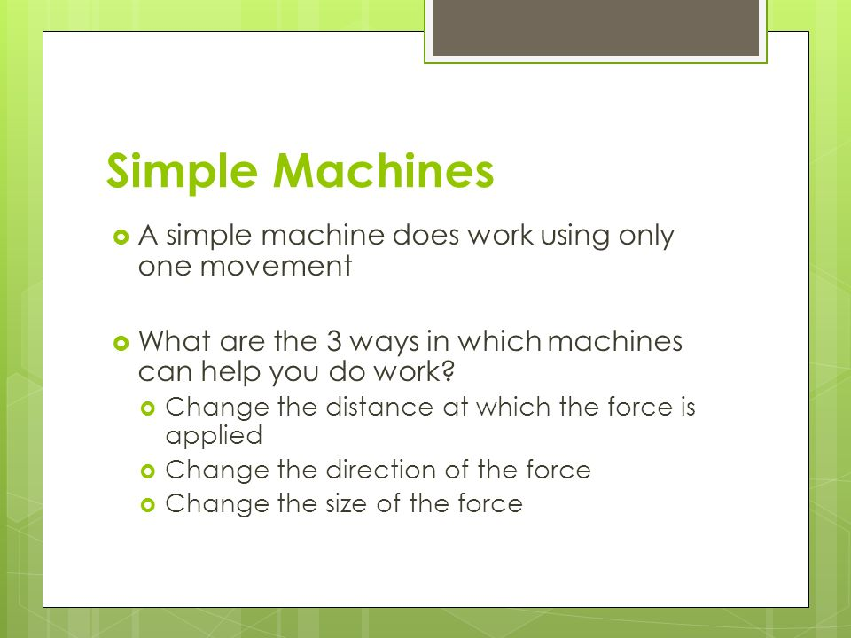 machines review and summary of important topics table of contents 4 simple