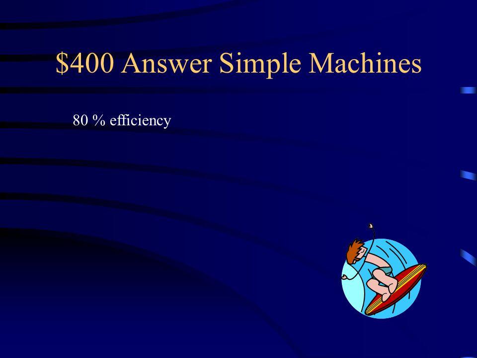 Simple Mechanics Question?