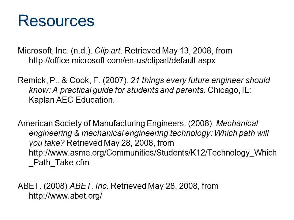 Resources Microsoft, Inc. (n.d.). Clip art.