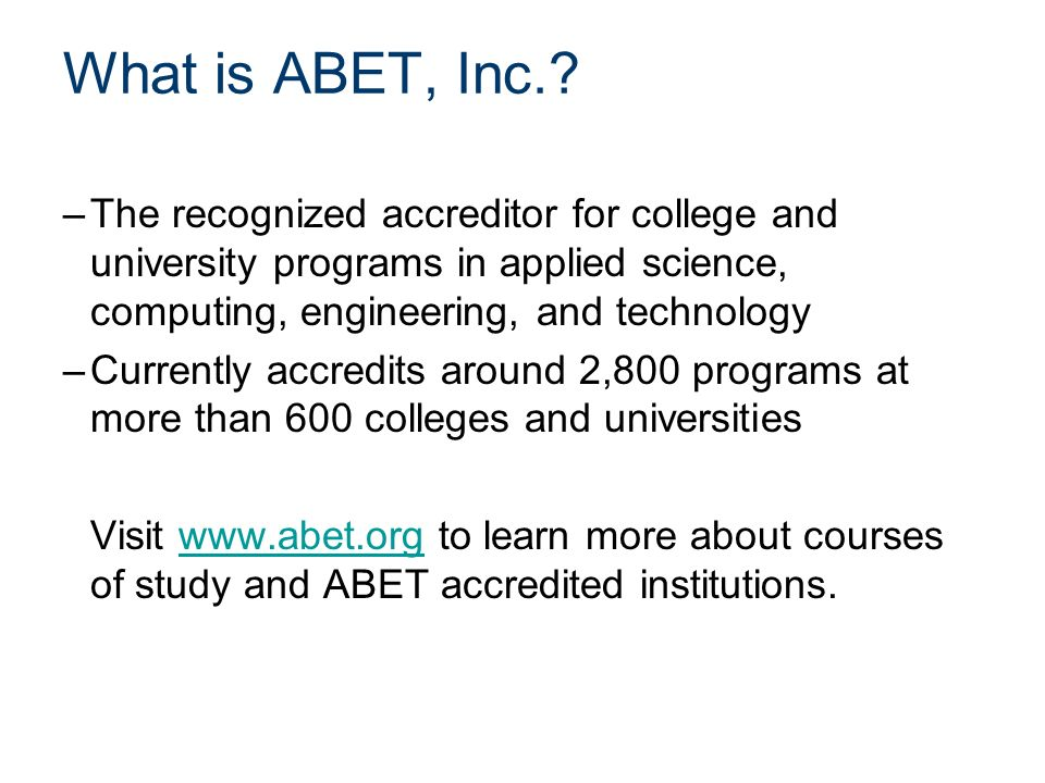 What is ABET, Inc..