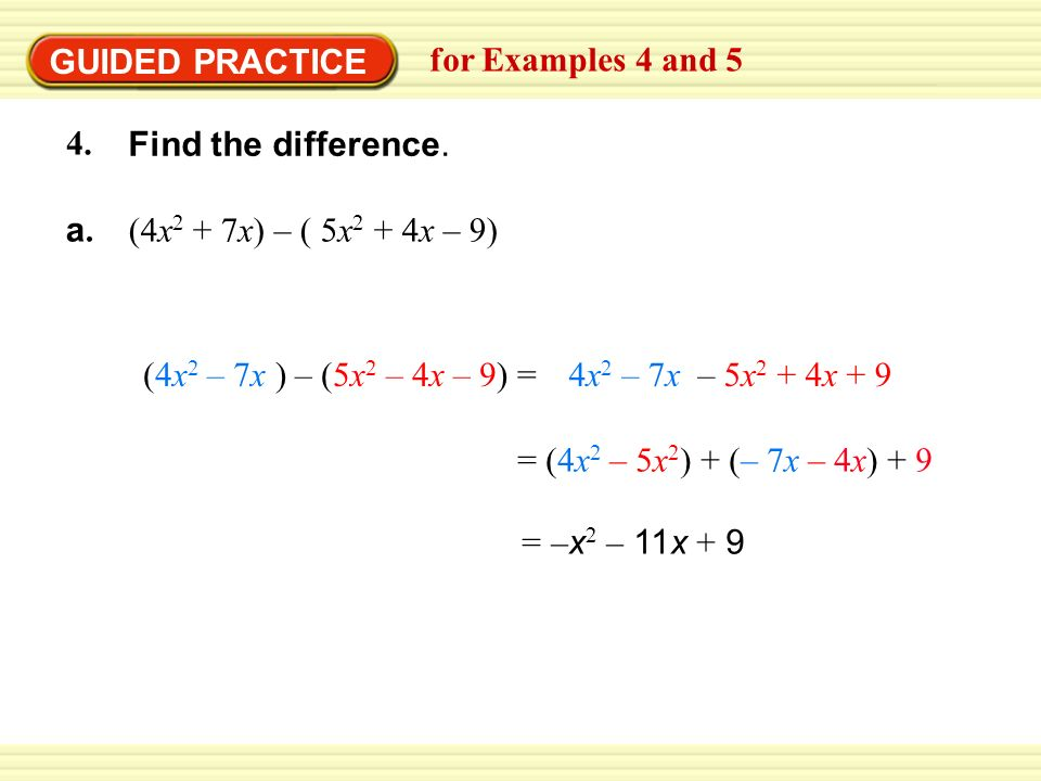 Adding And Subtracting Polynomials Worksheet Find Each Sum Or – Subtracting Polynomials Worksheet