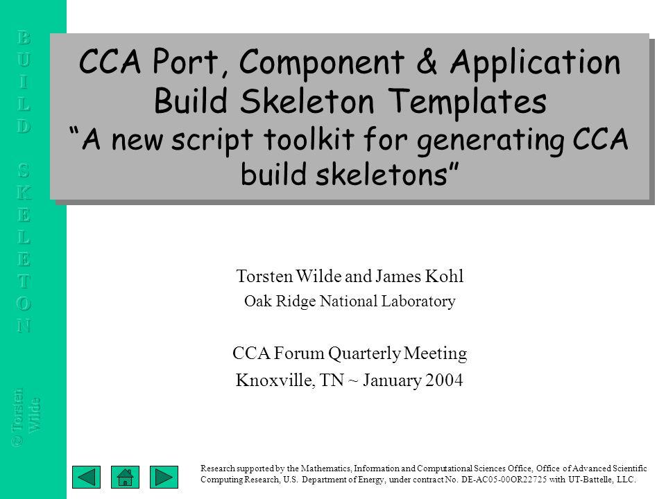 Cca port component application build skeleton templates a new cca port component application build skeleton templates a new script toolkit for generating cca altavistaventures Images