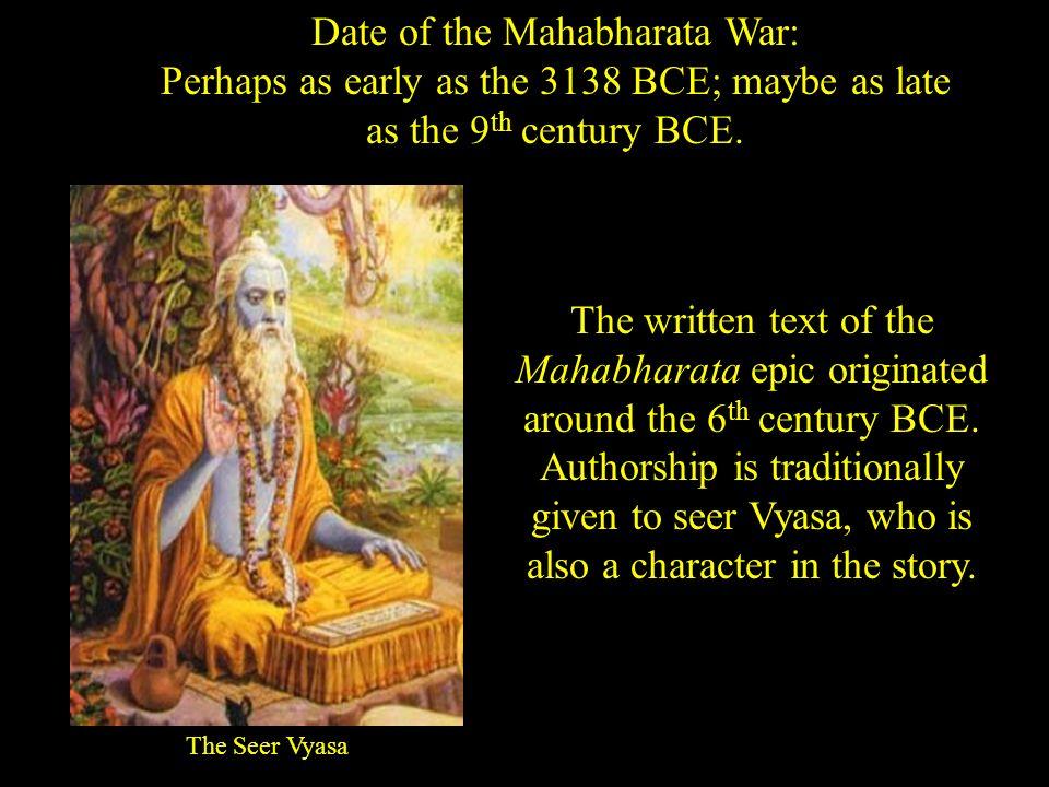 Historical dating of mahabharata