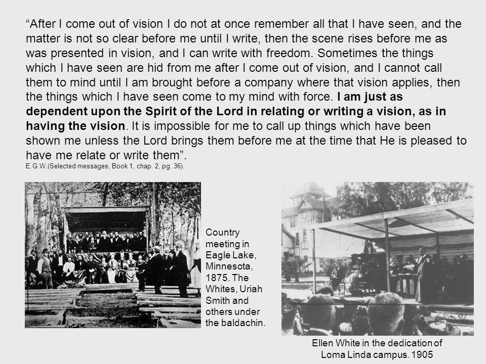ellen white vision