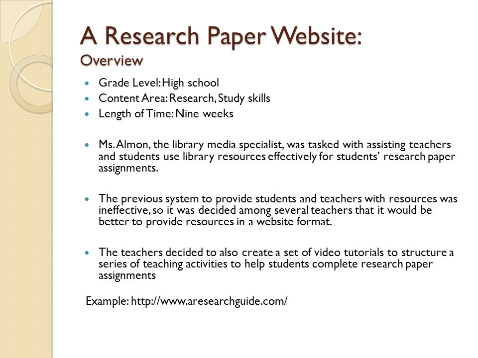 study skills research paper International journal of scientific and research publications, volume 2, issue 11, november 2012 1 issn 2250-3153 wwwijsrporg influence of study skills and academic achievement of.