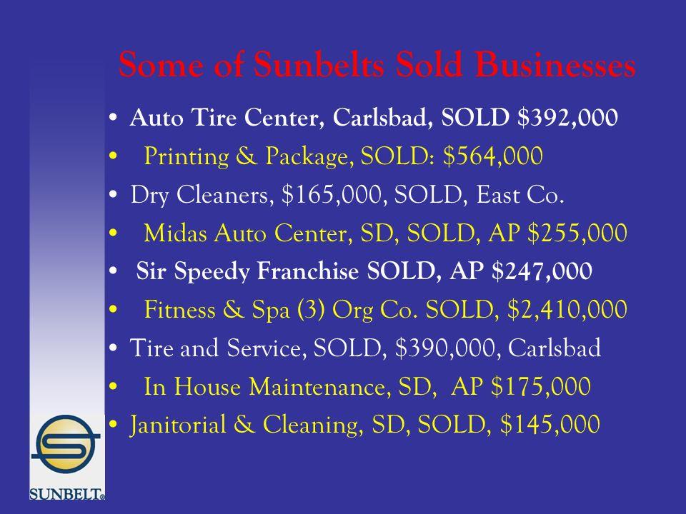 Sunbelt ® Business Brokers & Omega Franchise Network' 250 Offices ...