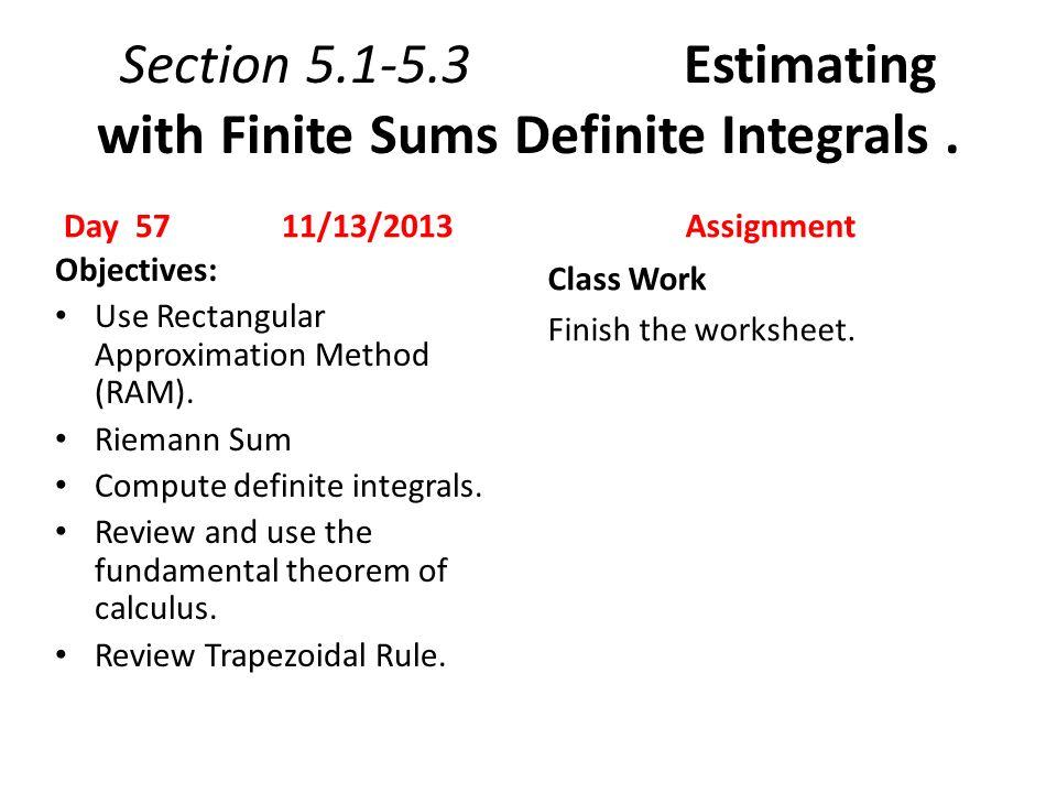 Definite Integral Worksheet Worksheet – Antiderivative Worksheet