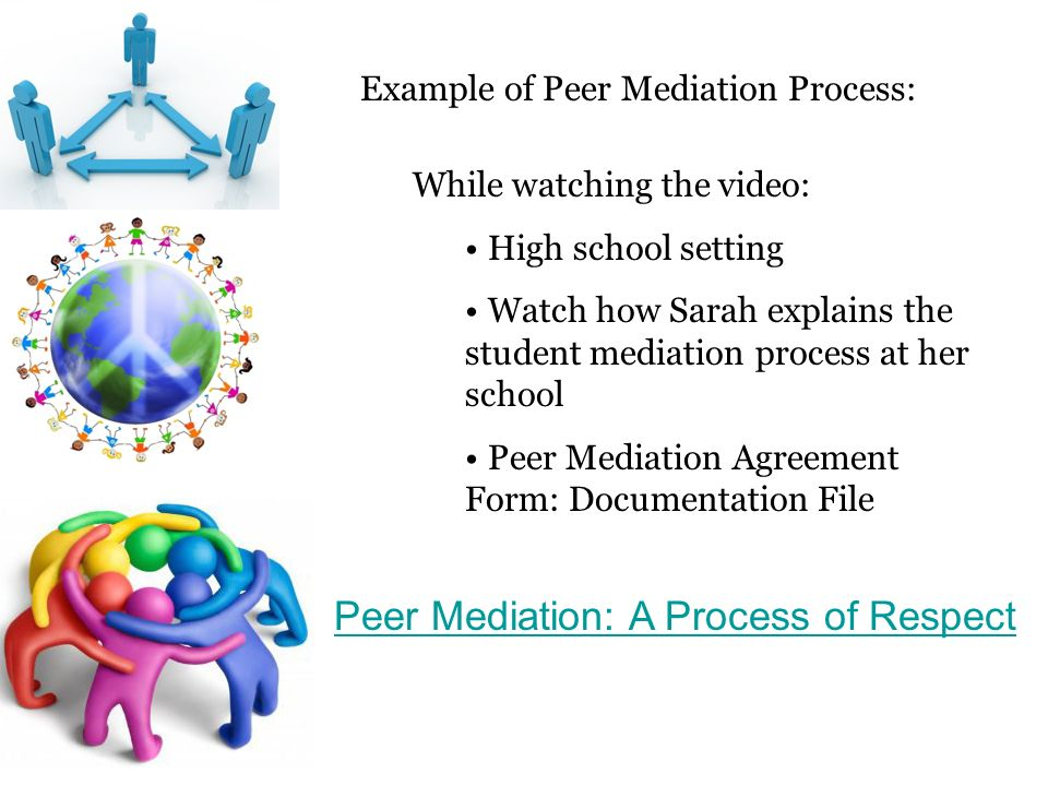 Peer mediation students helping students by lindsay 8 example platinumwayz