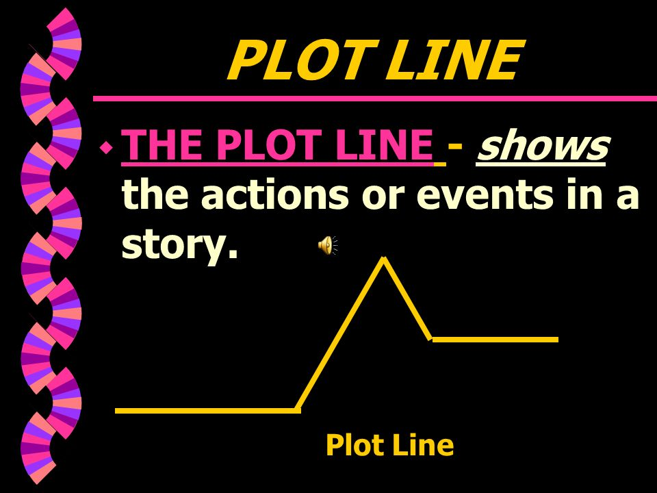 PLOT w PLOT: THE SEQUENCE OF EVENTS OR ACTIONS IN A STORY, NOVEL, OR NARRATIVE POEM.