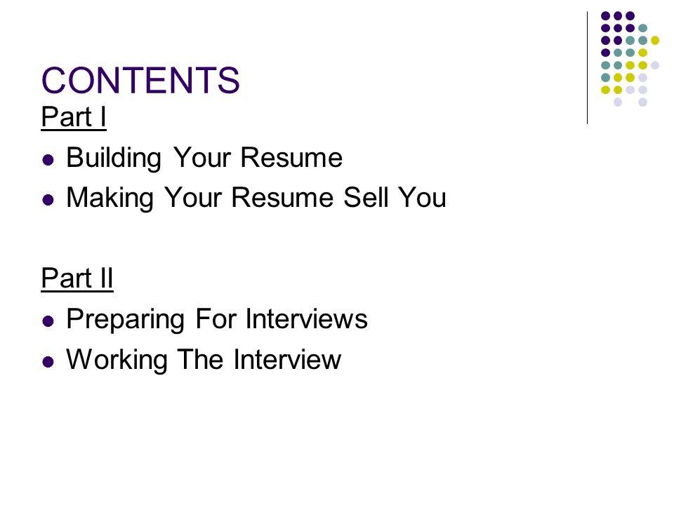 Resumes That Sell You  Resumes That Sell You