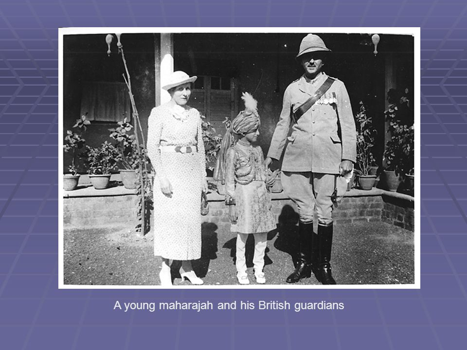 A young maharajah and his British guardians