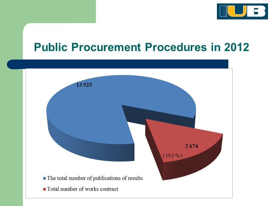 Public Procurement Procedures in 2012
