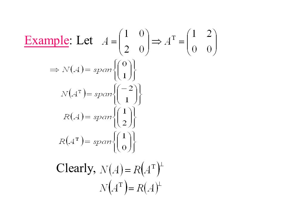 Example: Let Clearly,