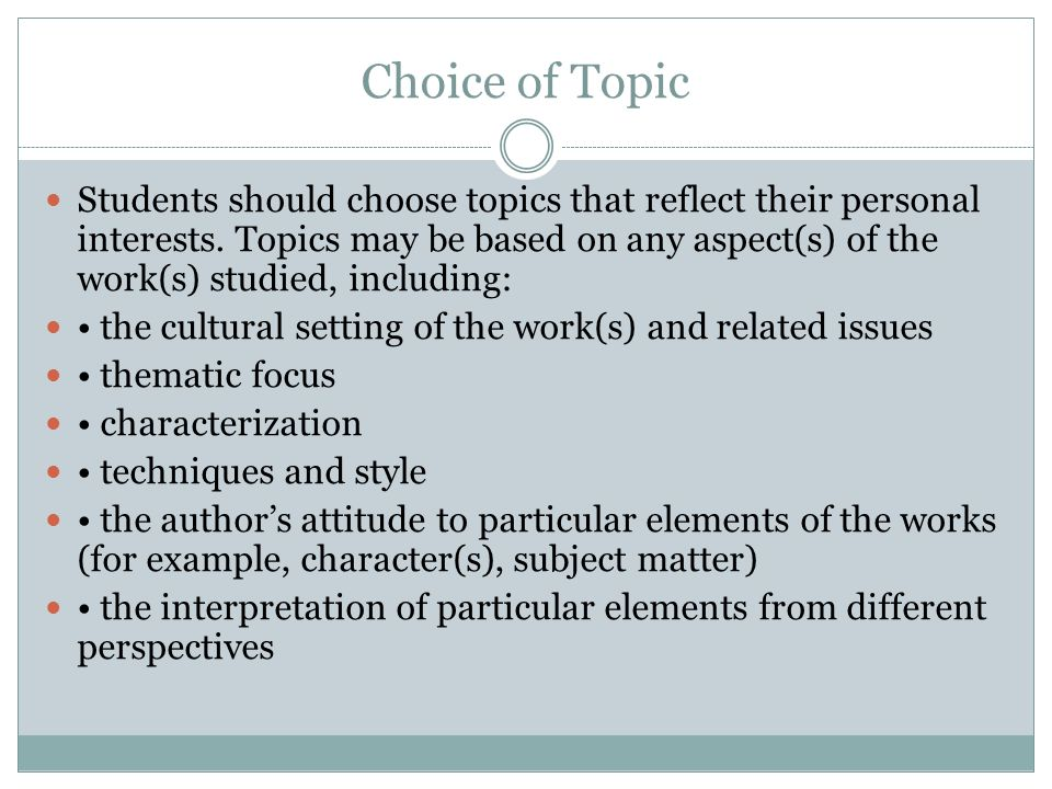example of oral presentation topics