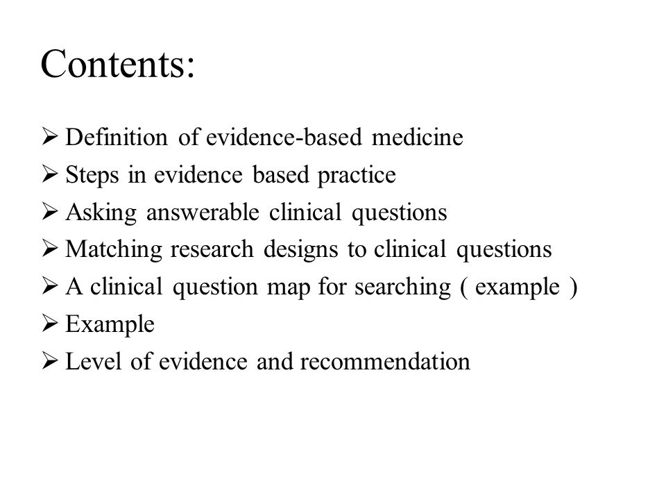 definition of evidence