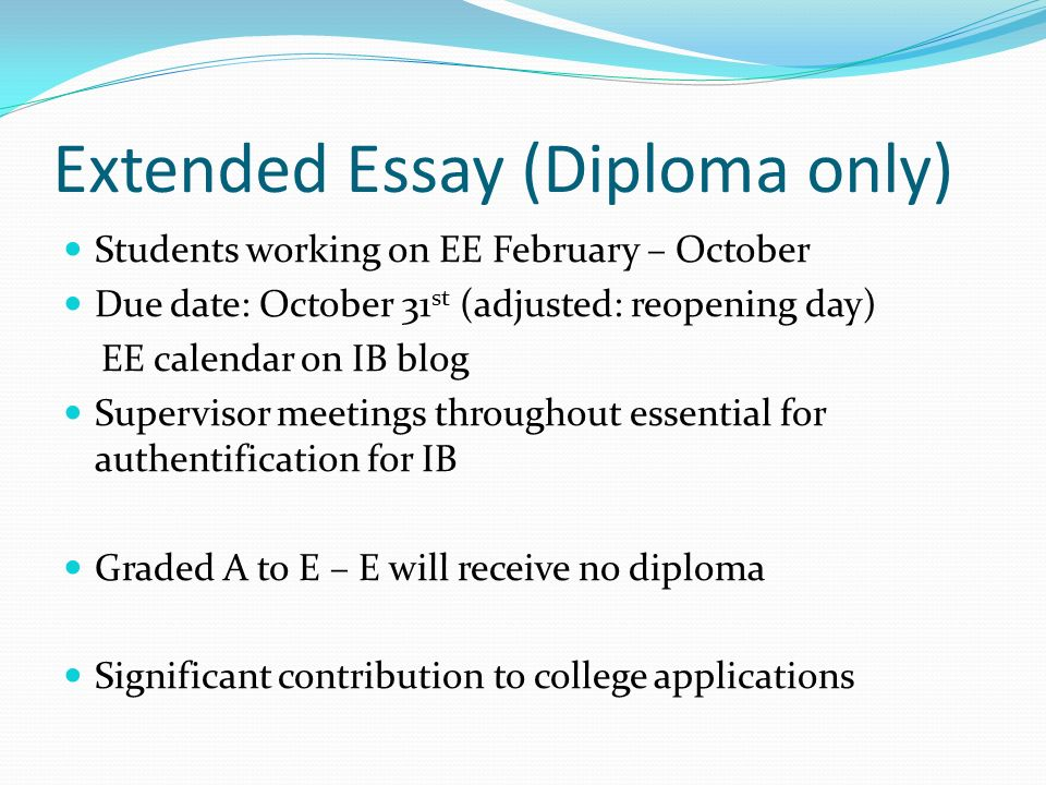the ib senior year registration extended essay internal  4 extended essay
