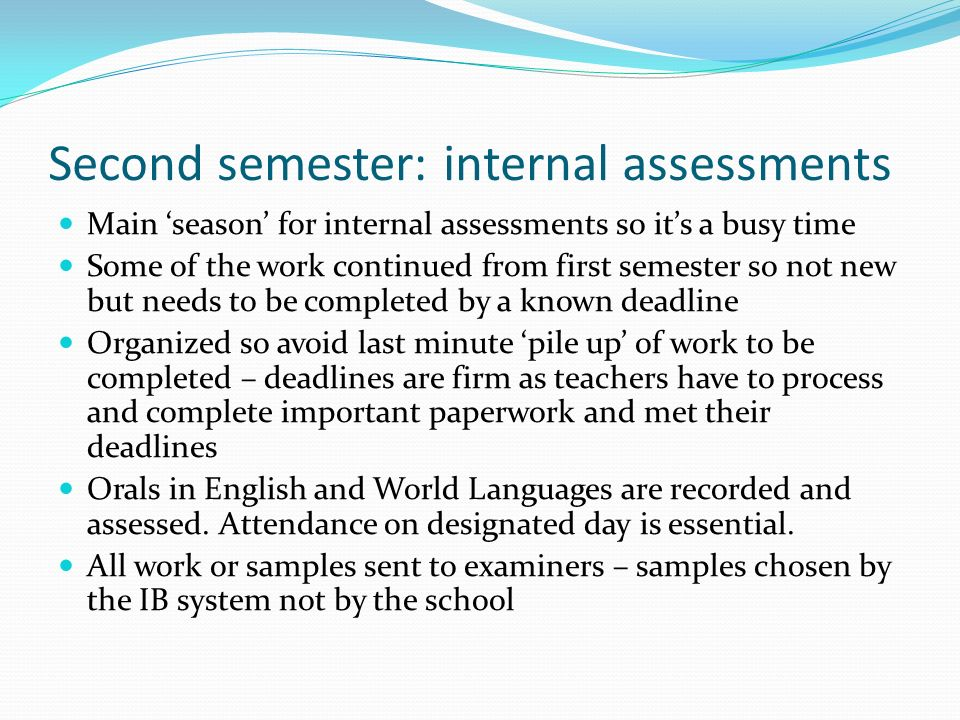 ib extended essay official deadline Ib students: what are your extended essay topics watch our official deadline was to hand it in till decembre 24th international baccalaureate extended.