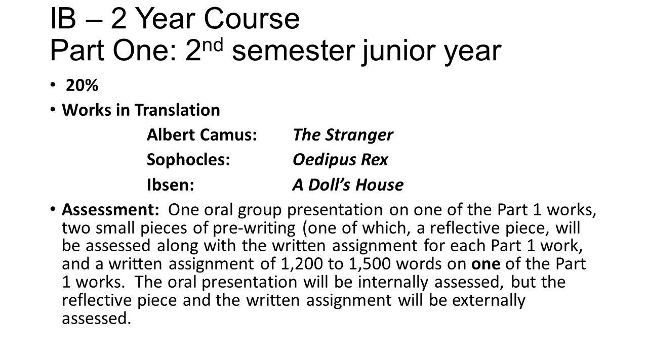 course syllabus 2 essay