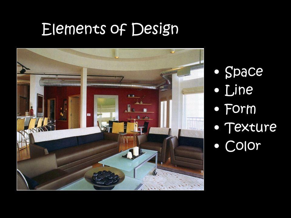 Line Color Form : Decorating living space: interior design unit. elements of