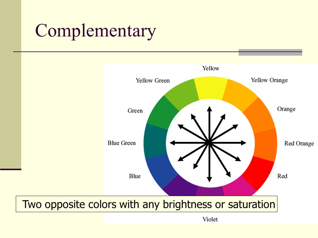25 Complementary Two Opposite Colors With Any Brightness Or Saturation