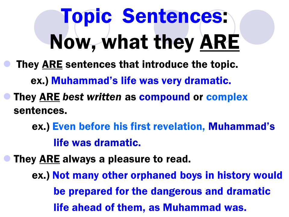 Purpose of an essay topic sentence?
