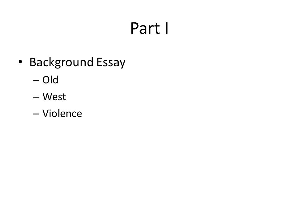 What is the Background part of an essay?
