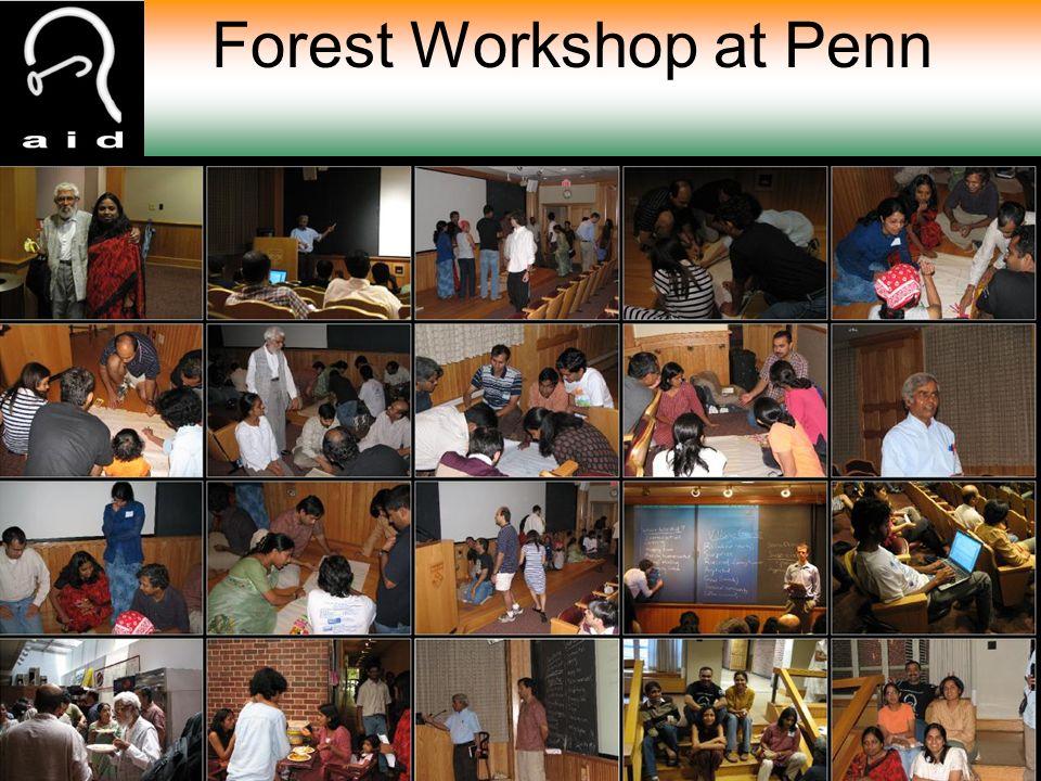 Forest Workshop at Penn