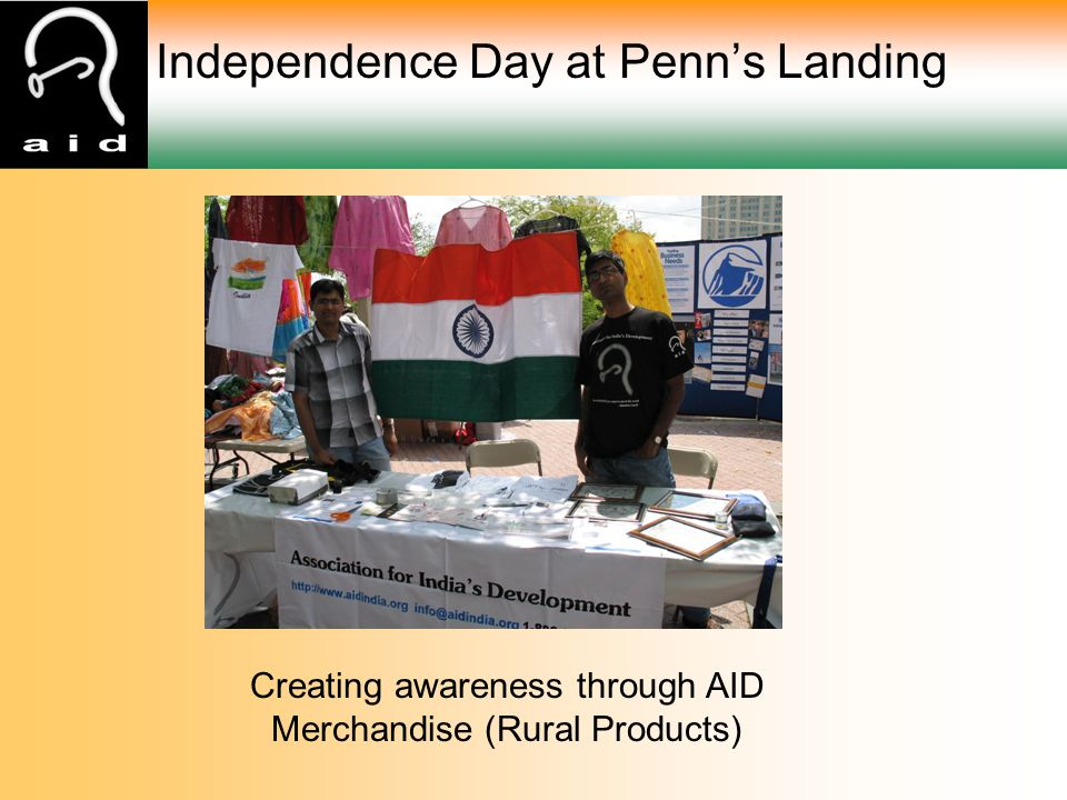 Independence Day at Penn's Landing Creating awareness through AID Merchandise (Rural Products)