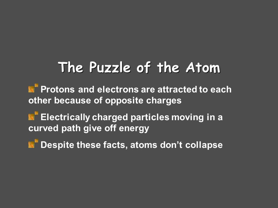 Electrons in Atoms Thomson – plum pudding Disproven Rutherford – Bohr