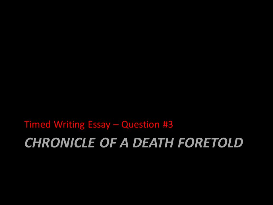an analysis of various chapters of the chronicles of death foretold Welcome to /r/literature, a community for deeper discussions of plays, poetry, short stories, and novelsdiscussions of literary criticism, literary history, literary theory, and critical theory are also welcome--strongly encouraged, even.