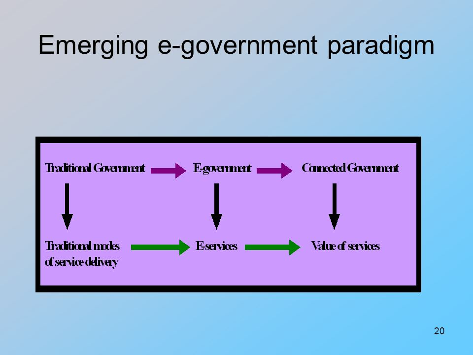 20 Emerging e-government paradigm