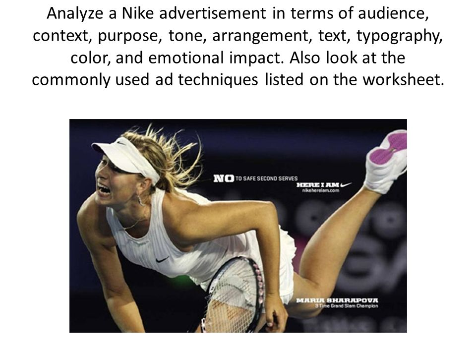 advertisement analysis Sample ad analysis using the steps for conducting a semiotic analysis outlined in the semiotics handout as the foundation for your argument, write a short, 200-300 word analysis of a women's fashion advertisement from a current magazine.