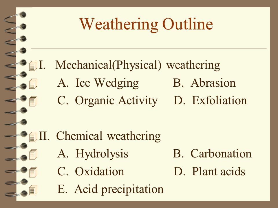WEATHERING CHAPTER 12 Sections 121 and ppt video online download – Weathering Worksheets