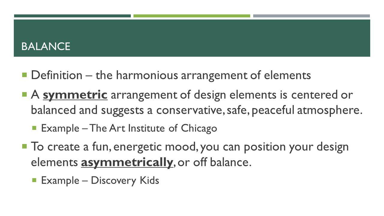 3 BALANCE Definition .