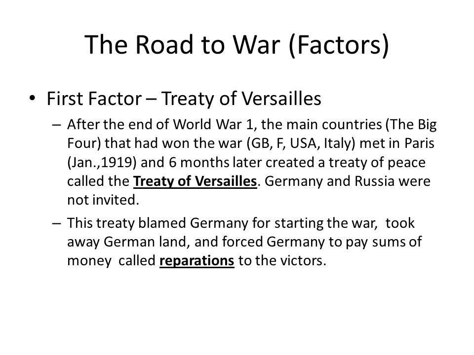 an analysis of treaty of versailles after world war i