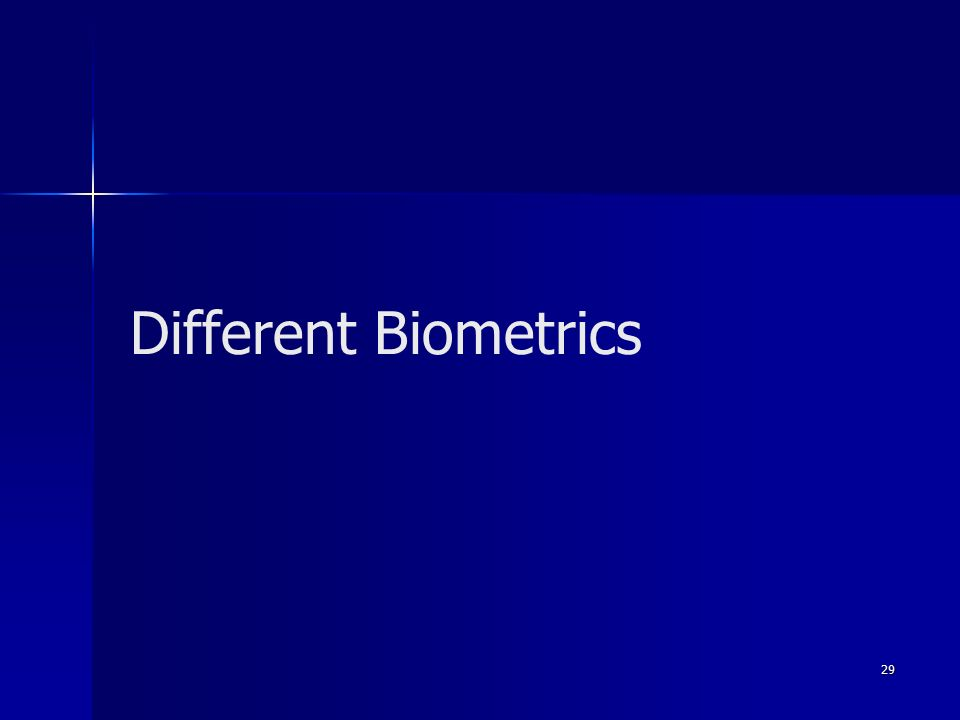 29 Different Biometrics