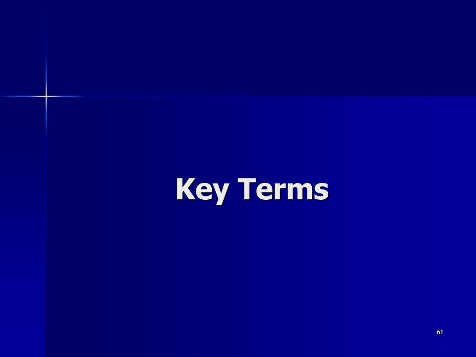 61 Key Terms