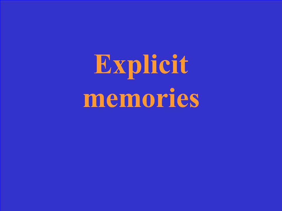Memories are those of which one is consciously aware