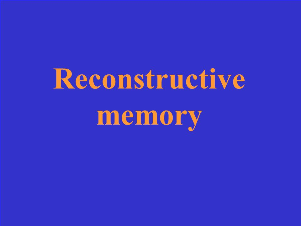 The process of piecing together memories by fitting them to a meaningful plan or organization, accounts for much of the inaccuracy of our recollections