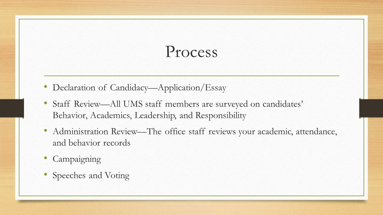 student council elections for the school year ppt 4 process declaration