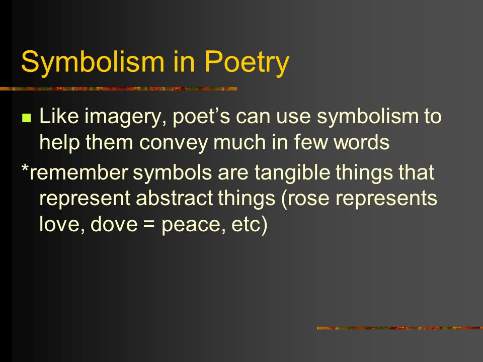 imagery and symbolism in