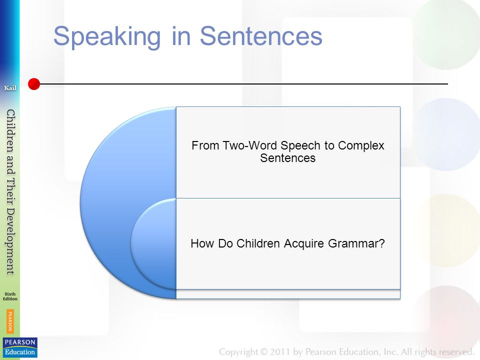 Speaking in Sentences From Two-Word Speech to Complex Sentences How Do Children Acquire Grammar