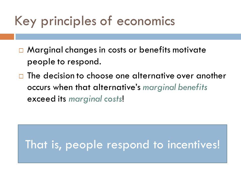 key principles of economics