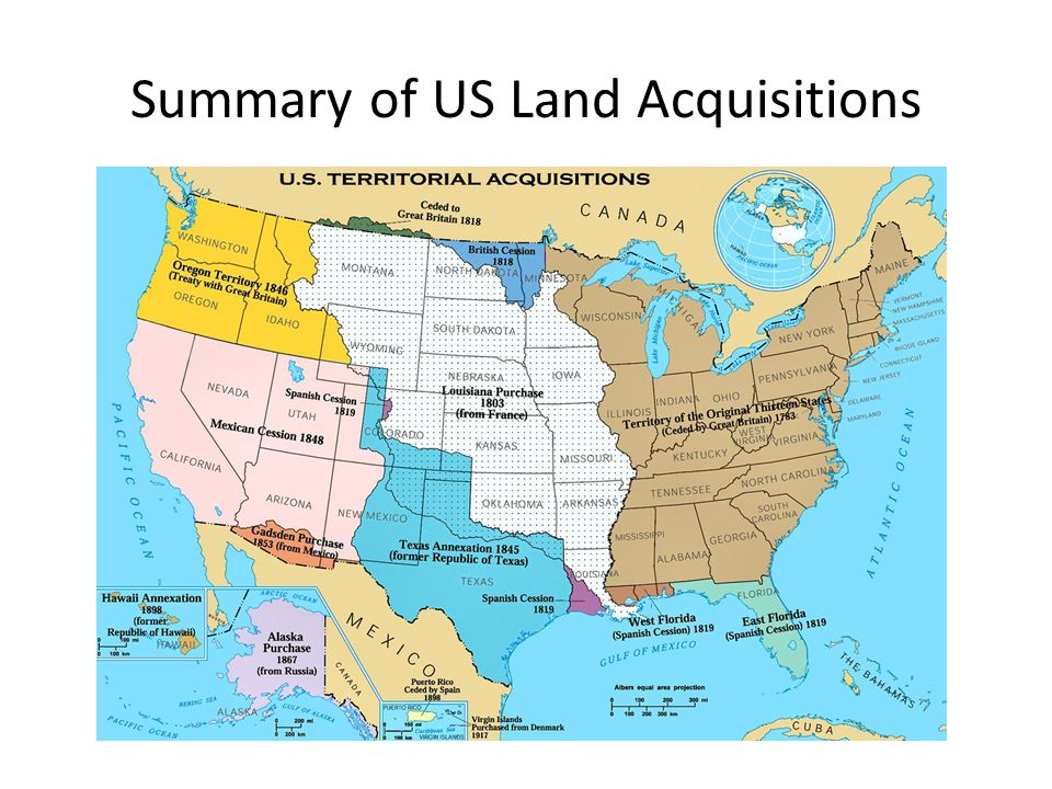 Topic The Territorial Expansion Of The US Ppt Download - Us land acquisitions map