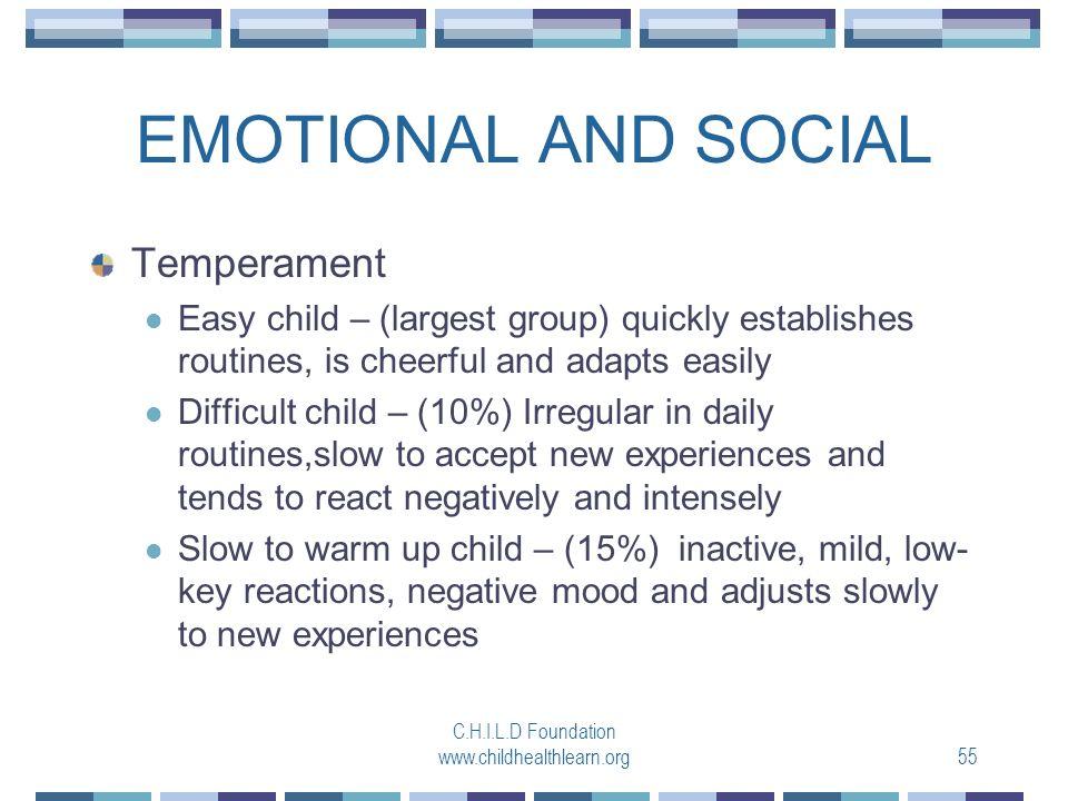 temperament easy child