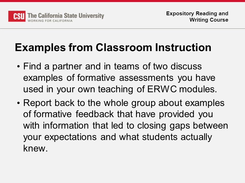 Expository Reading And Writing Course Formative Assessments  Ppt