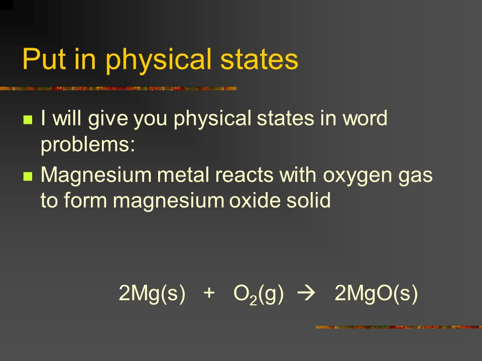 Honors Chemistry – Unit 5 Chemical Equations Chapter ppt download