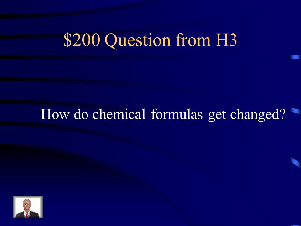 $100 Answer from H3 The number of molecules and atoms of elements in a substance