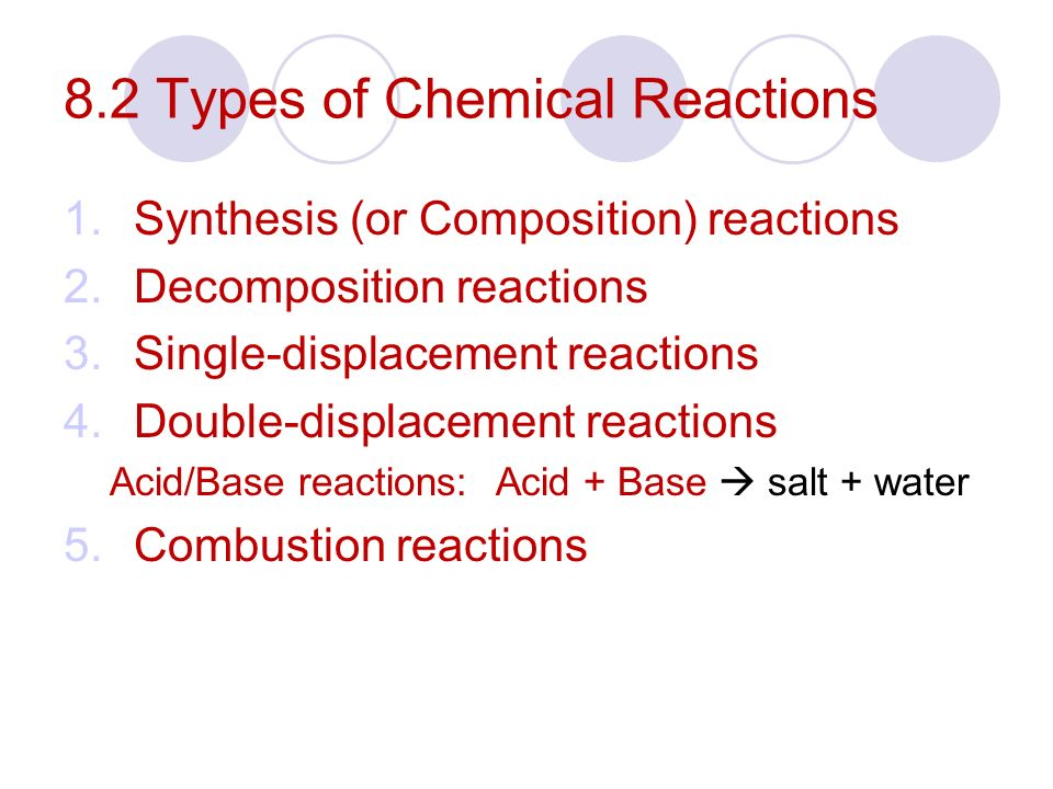 Chapter 8 Notes Types of Chemical Reactions p ppt download – Worksheet 5 Double-replacement Reactions